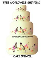Bird  cake stencil, cake stencil, Wedding cake stencil, cake decorating stencil, Free worldwide shipping (1) (2) (5) (6) (8) (9)